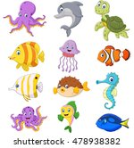 cartoon sea life collection | Shutterstock .eps vector #478938382