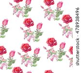 seamless floral pattern with... | Shutterstock . vector #478938496