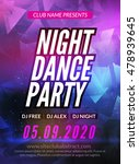 dance party poster template.... | Shutterstock .eps vector #478939645