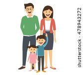 happy family standing together... | Shutterstock .eps vector #478943272