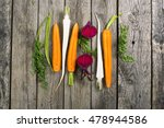sliced raw vegetables  carrot ... | Shutterstock . vector #478944586
