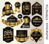 attractive drinks labels set ... | Shutterstock .eps vector #478946716
