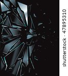 broken glass black 1 vector... | Shutterstock .eps vector #47895310
