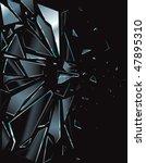 broken glass black 1 vector...   Shutterstock .eps vector #47895310