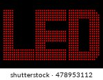 red led symbol  at black...   Shutterstock .eps vector #478953112