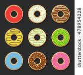 set sweet colorful vector... | Shutterstock .eps vector #478954228
