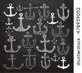set of anchors. hand drawn... | Shutterstock .eps vector #478959052