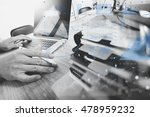 business documents on office... | Shutterstock . vector #478959232