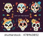day of the dead poster  mexican ... | Shutterstock .eps vector #478963852
