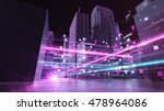 abstract 3d city rendering with ... | Shutterstock . vector #478964086