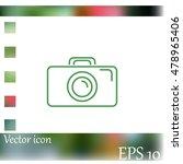 camera icon. photo icon | Shutterstock .eps vector #478965406