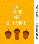 vector thanksgiving background... | Shutterstock .eps vector #478966252