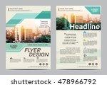 green brochure layout design... | Shutterstock .eps vector #478966792