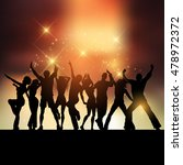 silhouettes of people dancing... | Shutterstock .eps vector #478972372