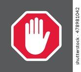 hand blocking sign stop | Shutterstock . vector #478981042