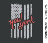 new york typographic on usa... | Shutterstock .eps vector #478981396
