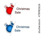 vector red and blue christmas... | Shutterstock .eps vector #478982626