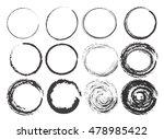 big set of empty scribble... | Shutterstock .eps vector #478985422