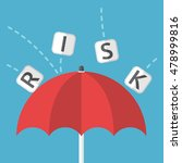 red umbrella protects against... | Shutterstock .eps vector #478999816