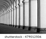 row of column in colonnade.... | Shutterstock . vector #479012506