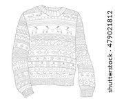 sweater with deer  page... | Shutterstock .eps vector #479021812