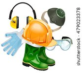 vector protective equipment... | Shutterstock .eps vector #479023378