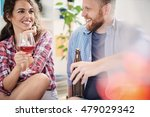 romantic happy young couple... | Shutterstock . vector #479029342