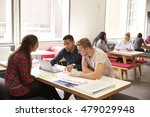 group of university students... | Shutterstock . vector #479029948