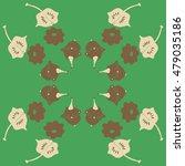 circular  pattern with pumpkins ...   Shutterstock .eps vector #479035186