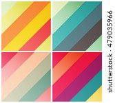 set of retro stripe diagonal... | Shutterstock .eps vector #479035966