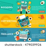 blogging  freelance and... | Shutterstock .eps vector #479039926
