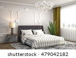 bedroom interior. 3d... | Shutterstock . vector #479042182