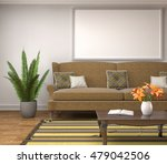 mock up poster frame in... | Shutterstock . vector #479042506