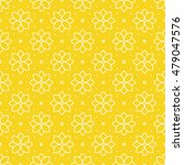 seamless yellow flower pattern. ... | Shutterstock .eps vector #479047576