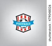 soccer logo design template ... | Shutterstock .eps vector #479048026