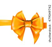 bow ribbon gift vector | Shutterstock .eps vector #479049742