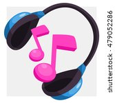 composition of headphones and... | Shutterstock .eps vector #479052286