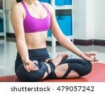 lotus yoga meditation   Shutterstock . vector #479057242