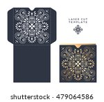 vector wedding card laser cut... | Shutterstock .eps vector #479064586