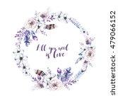 watercolor floral boho  flower...   Shutterstock . vector #479066152