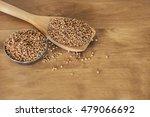 buckwheat grains on wooden... | Shutterstock . vector #479066692