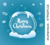 text label merry christmas ... | Shutterstock .eps vector #479069116