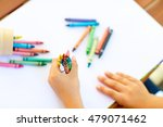 closeup of child's hands with... | Shutterstock . vector #479071462
