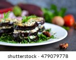 appetizer of eggplant and nut... | Shutterstock . vector #479079778