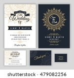 vintage wedding invitation... | Shutterstock .eps vector #479082256