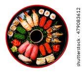 sushi set nigiri  rolls  gunkan ... | Shutterstock . vector #479083612