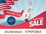 columbus day. sale template... | Shutterstock .eps vector #479091865