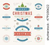 christmas labels and badges... | Shutterstock .eps vector #479100622
