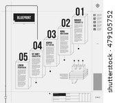 vector chart template in draft... | Shutterstock .eps vector #479105752