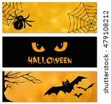 set of halloween vector design... | Shutterstock .eps vector #479108212